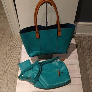Faux leather bag 3 pieces 🍀🍀🍀